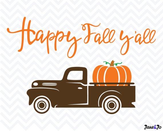 Fall Truck Svg Pumpkin Truck Svg Silhouette Cricut Clipart