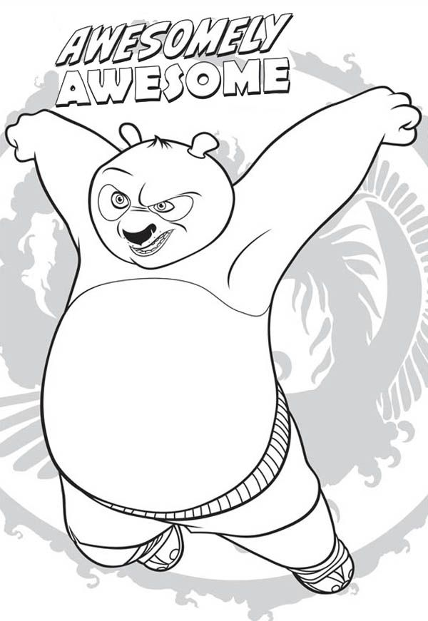 Kung Fu Panda Awesome Dragon Warrior Of Kung Fu Panda Coloring Page Com Imagens Artesanato