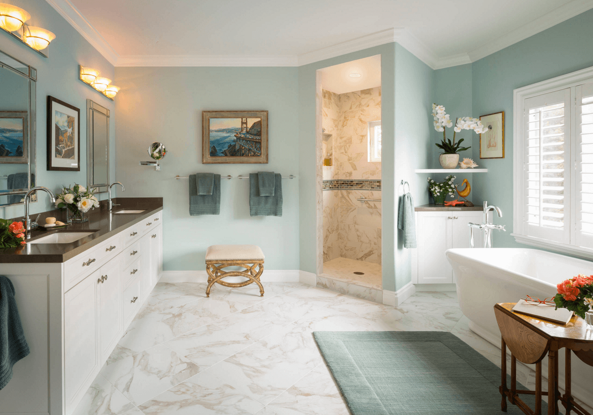 10 Ways to Add Color Into Your Bathroom Design | Freshome ...