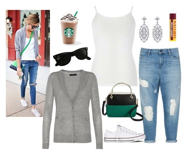 """""""Basic"""" by sassyladies ❤ liked on Polyvore featuring Dorothy Perkins, Isabel Marant, Converse, Cesca, Ray-Ban, CARAT* London and Burt's Bees"""