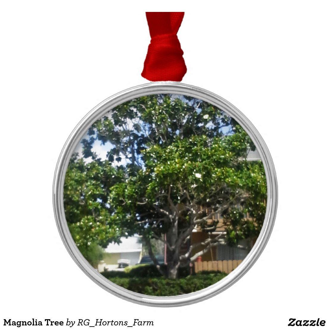Magnolia Tree Metal Ornament