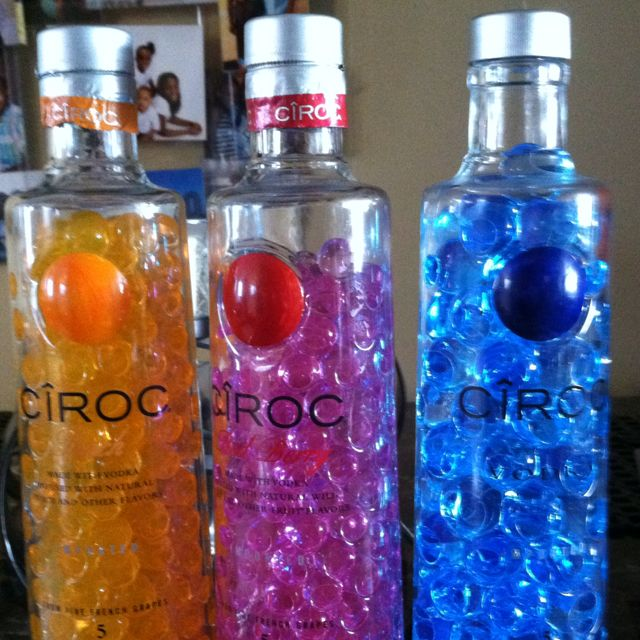 Liquor Bottle Centerpieces: What Else To Do With My Empty Ciroc Bottles? :)