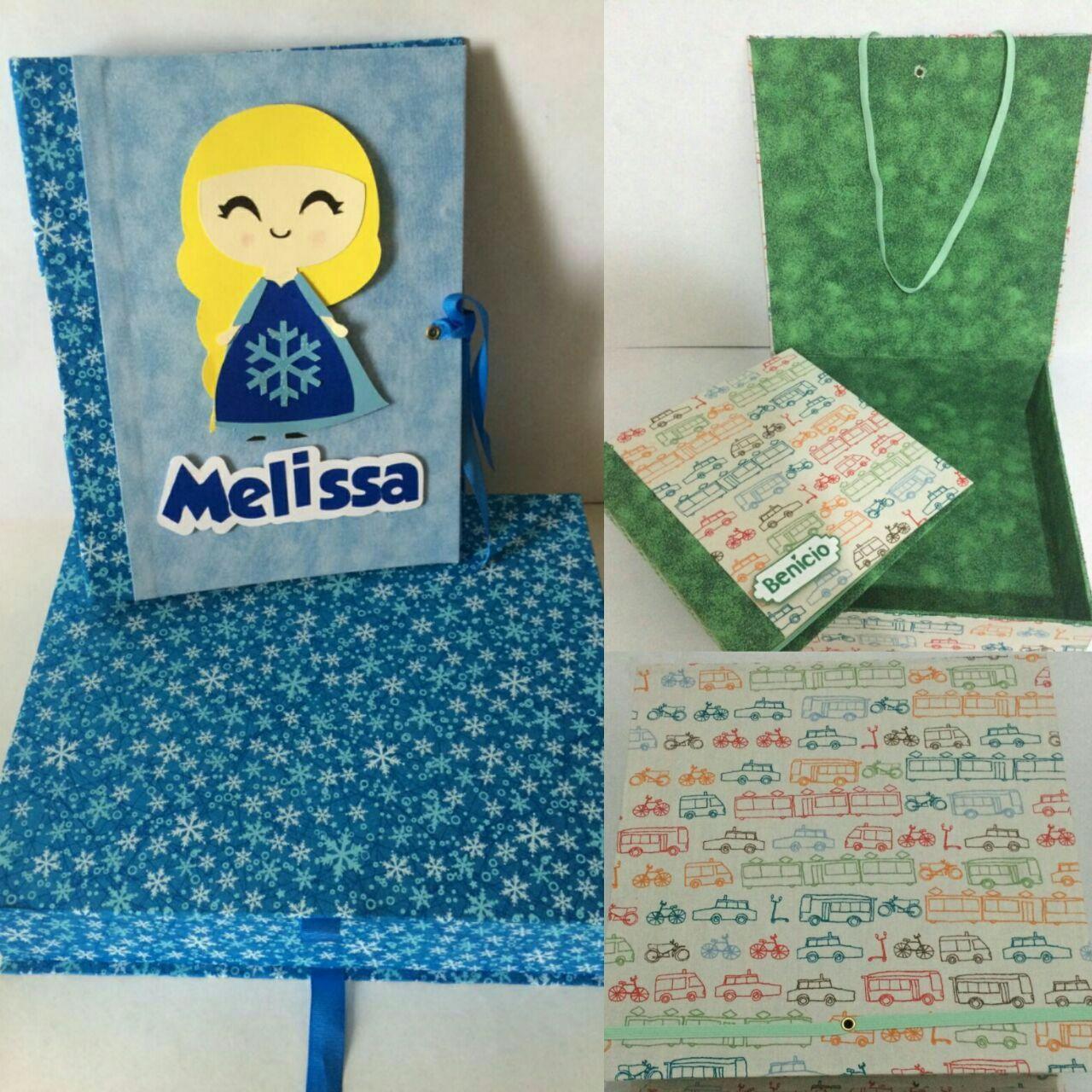 Mini Álbum com caixa! Em cartonagem!