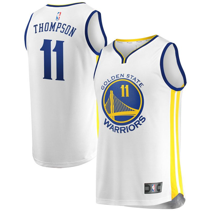 8384d8713 Klay Thompson Golden State Warriors Fanatics Branded Youth Fast Break  Replica Jersey White - Association Edition