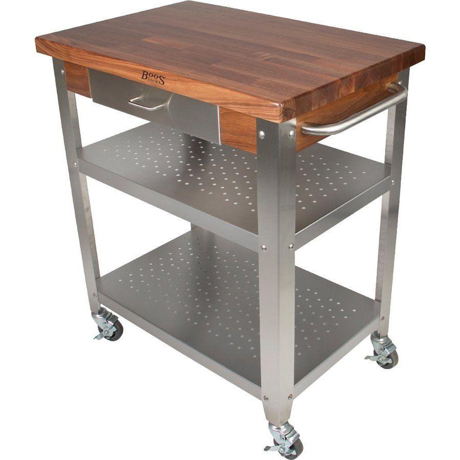 Cucina 4 X 4 john boos 30-3/4 inch x 20 inch x 34-3/4 inch kitchen cart