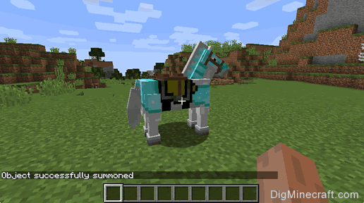 Summon A Horse With Armor In Minecraft Game Commands And Cheats - Minecraft spiele cheats