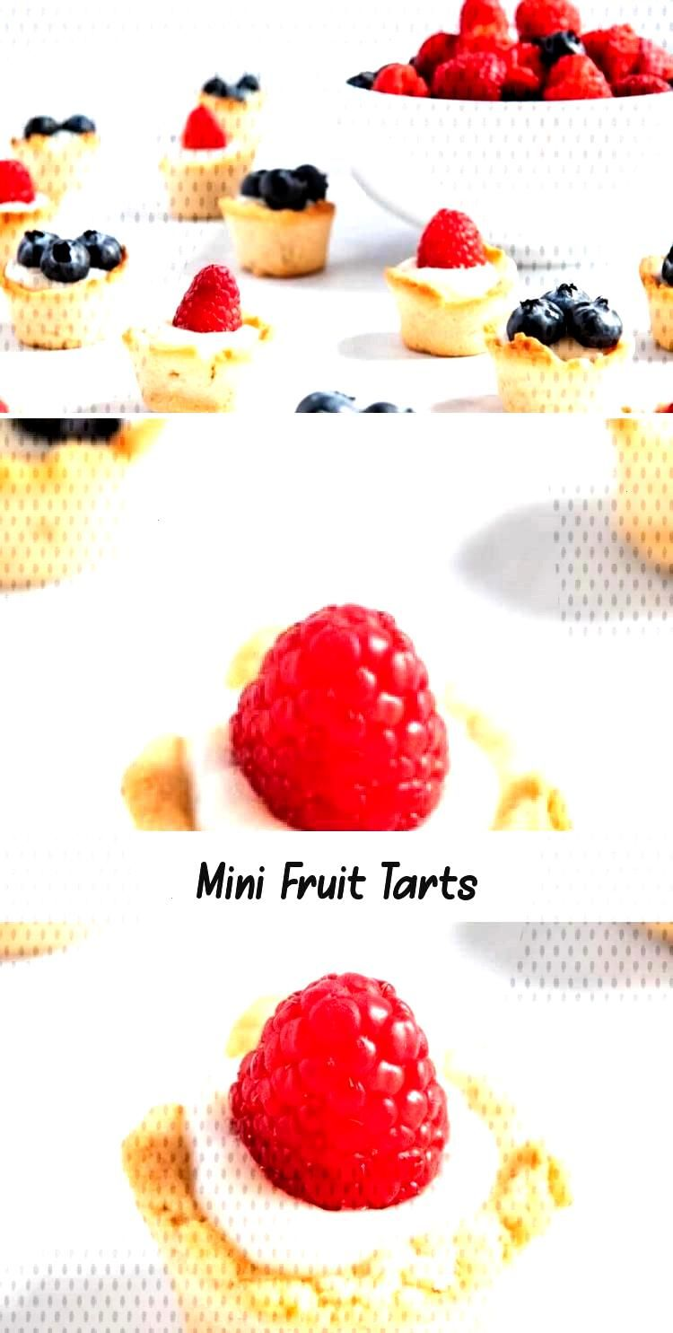 Delicious mini fruit tarts made with a buttery shortbread crust, creamy vanilla custard and topped