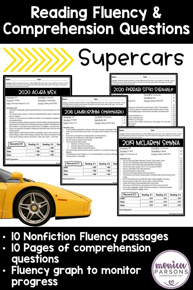 Reading Fluency Passages Reading Comprehension Questions Supercars Reading Fluency Reading Fluency Passages Fluency Passages [ 1152 x 768 Pixel ]