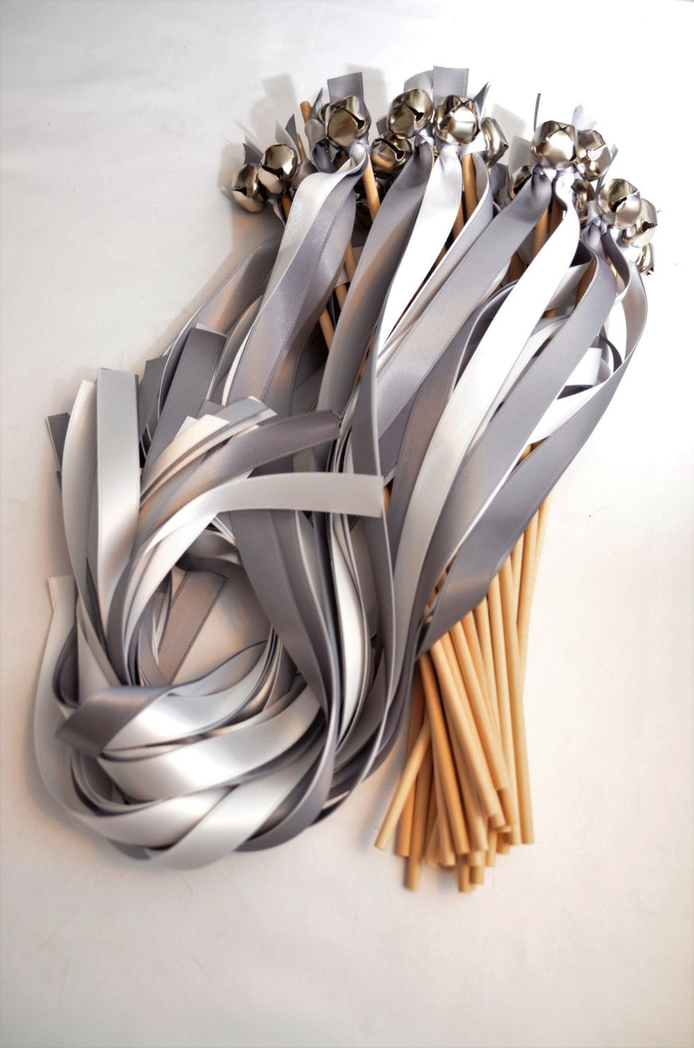 100 Ribbon Bell Wands Large Bell Divinity Braid Send