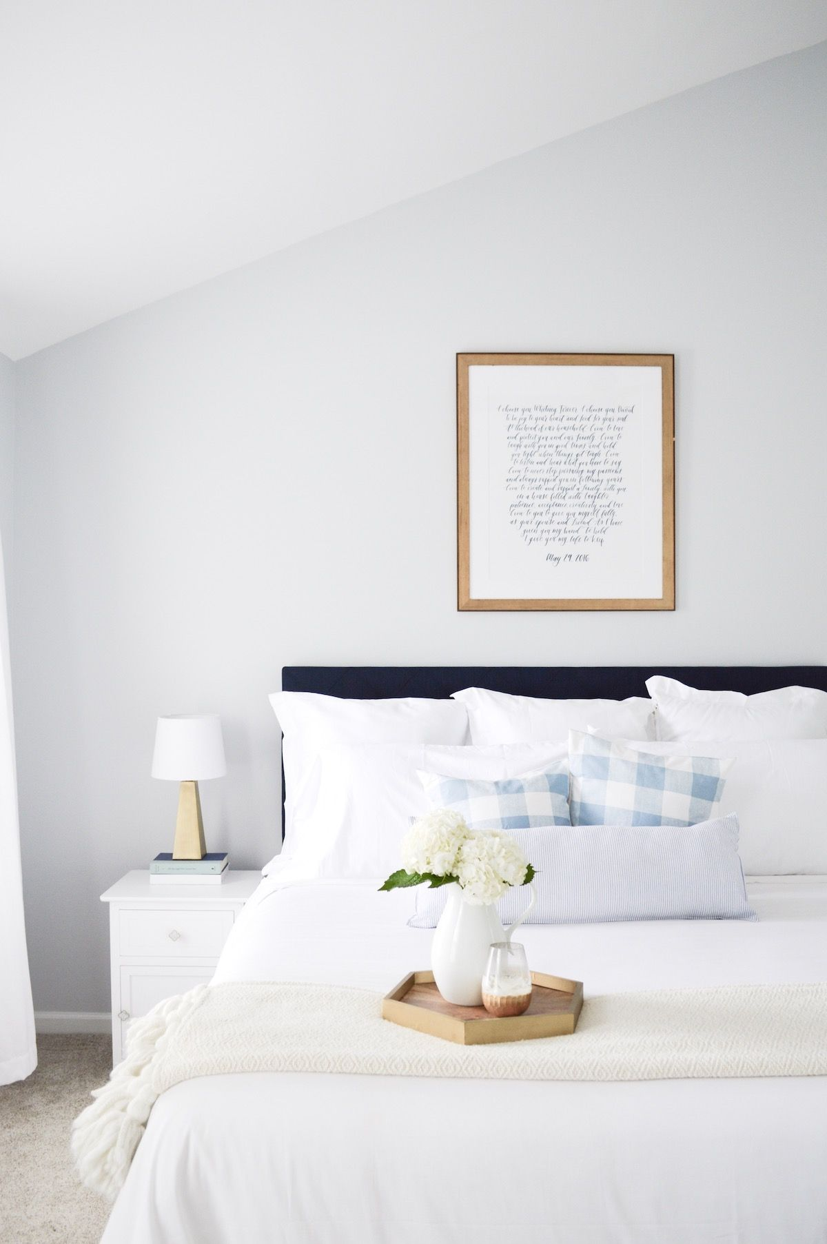 White master bedroom decor  Our Master Bedroom Transformation before and after  Pinterest