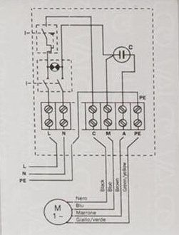 Single Phase Submersible Pump Starter Wiring Diagram (With