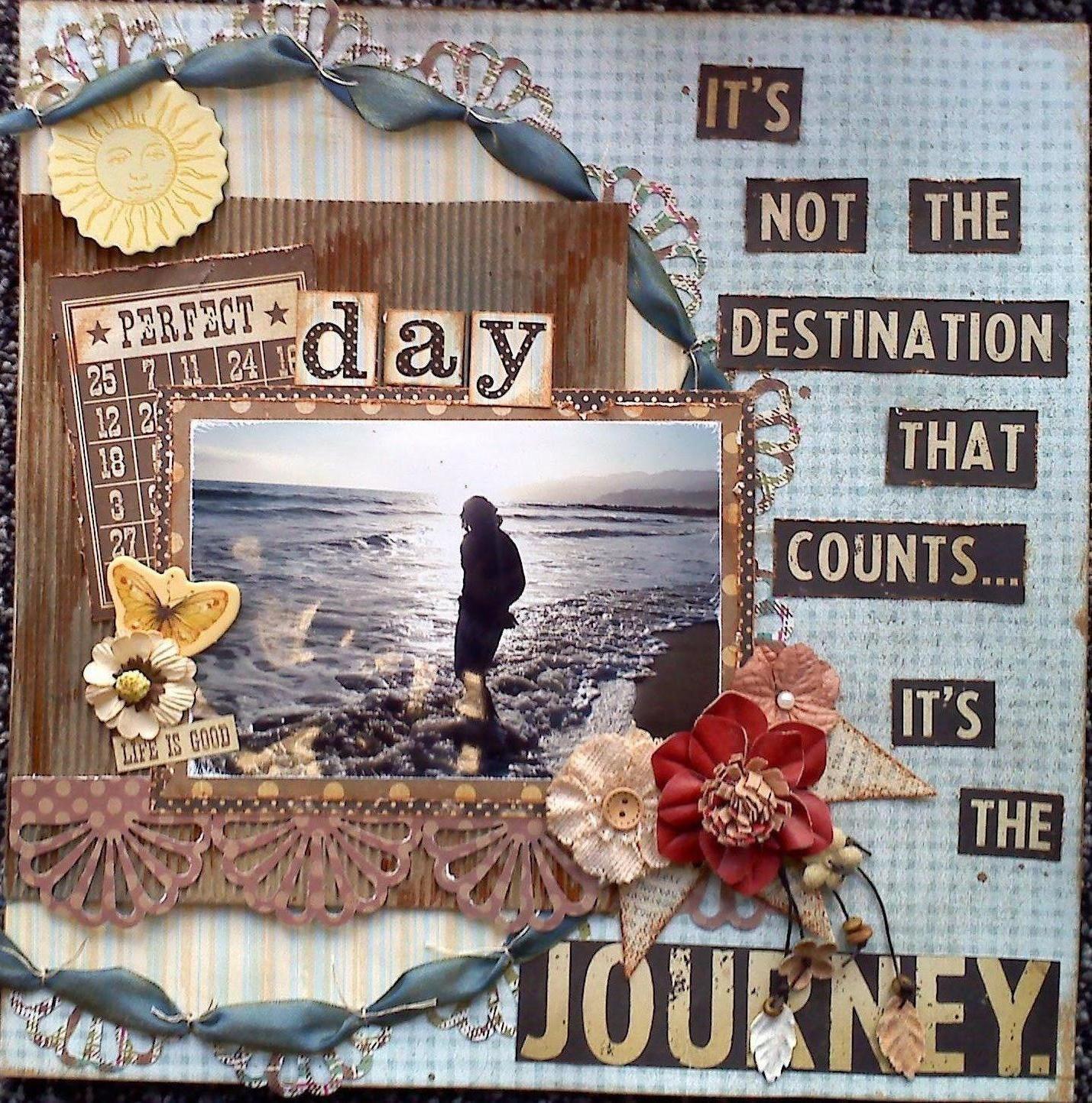 Layout: Perfect Day *Scraps of Darkness*  scrapbook.com