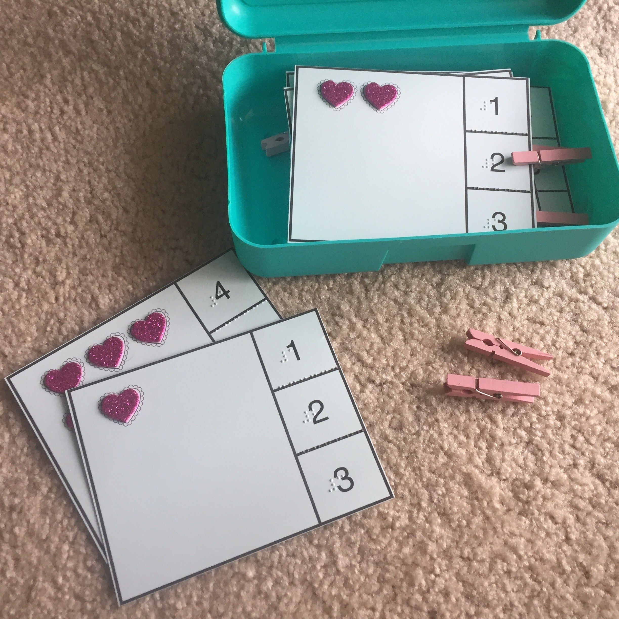 Heart Counting Task Cards
