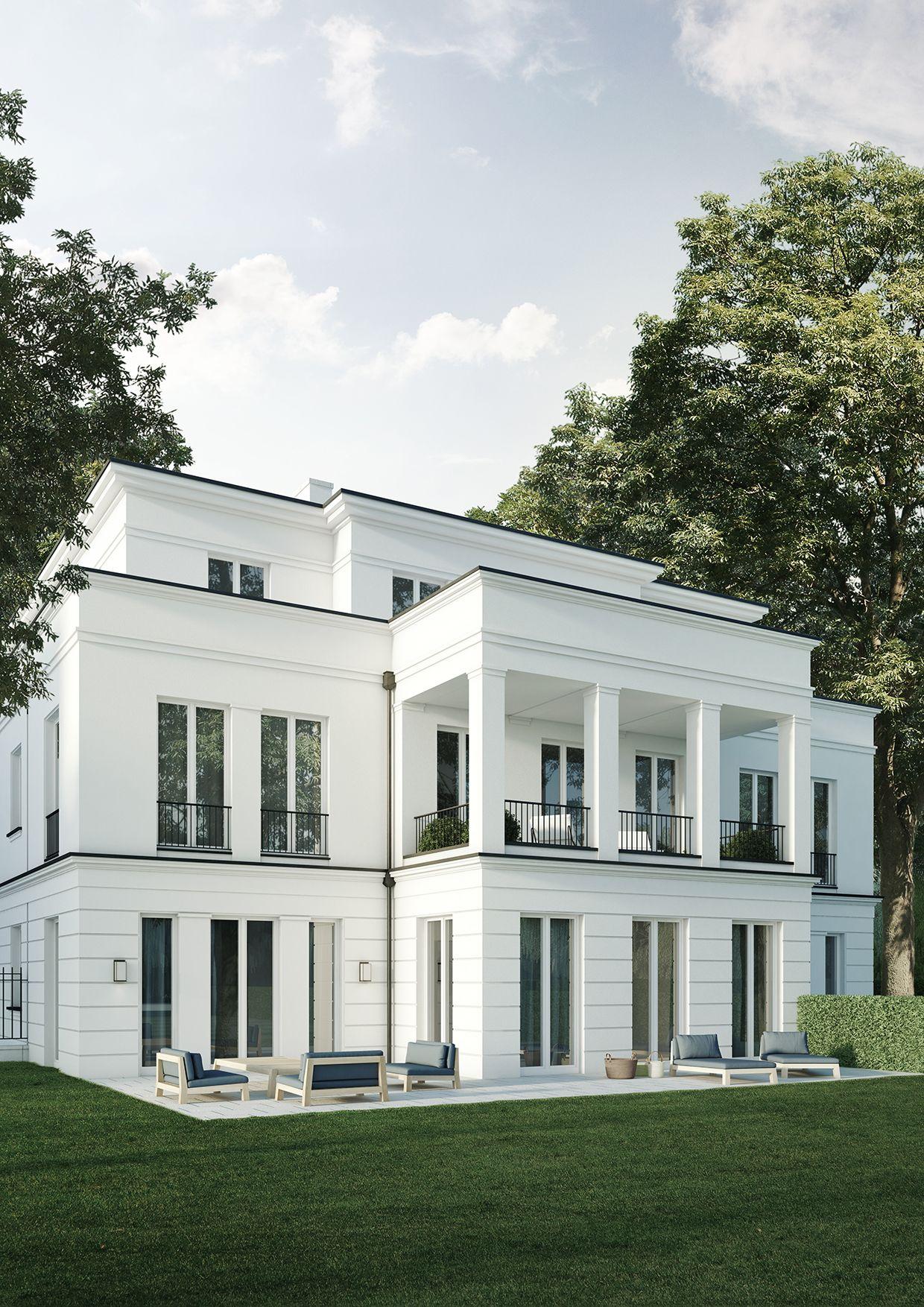 Wohnhaus mit 4 wohneinheiten berlin grunewald projekte for Architecture facade villa