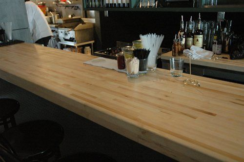Butcher Block Bar