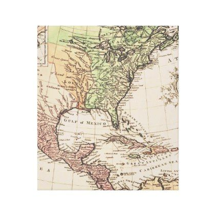 Cool vintage geography new world map canvas print publicscrutiny Choice Image