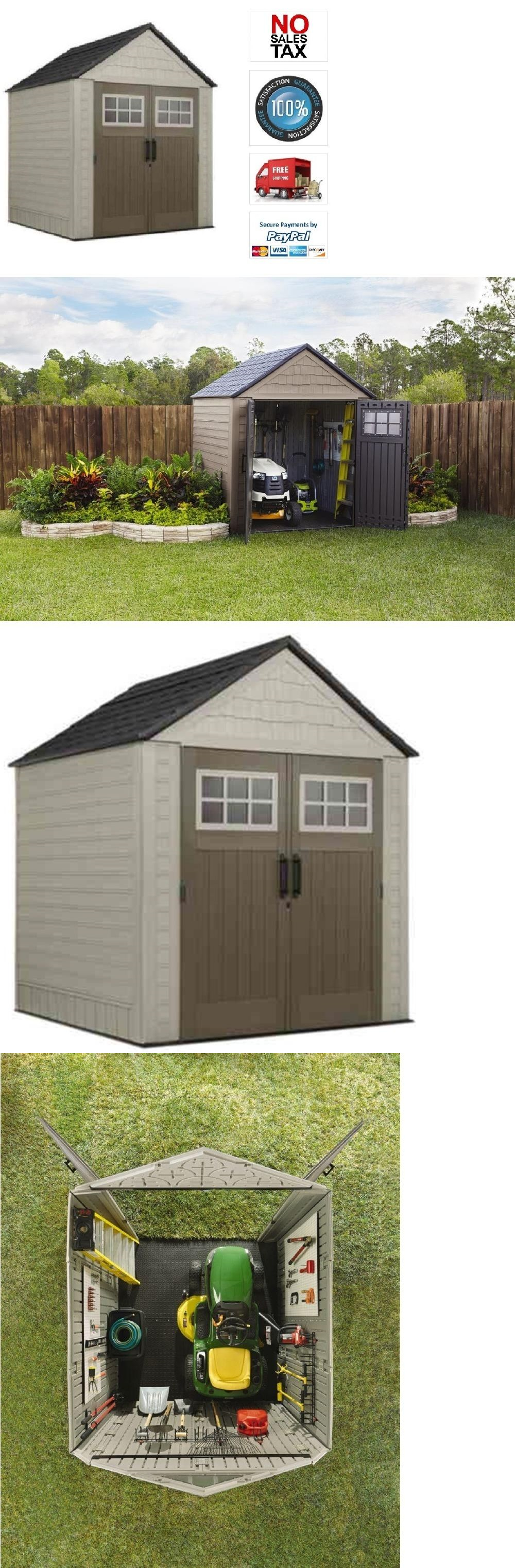 Garden And Storage Sheds 139956: Rubbermaid 7X7 Heavy Duty Lawn Utility  Storage, Riding Mowers