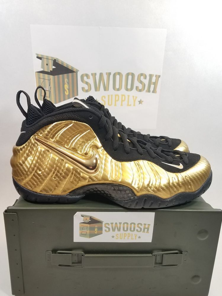 DS NIKE AIR FOAMPOSITE PRO METALLIC GOLD 9.5