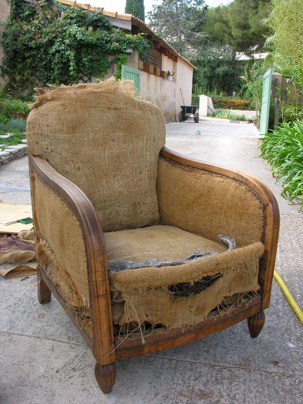 fauteuil club restauration d 39 un vieux fauteuil un ptit coin chez sophie bricolage et. Black Bedroom Furniture Sets. Home Design Ideas