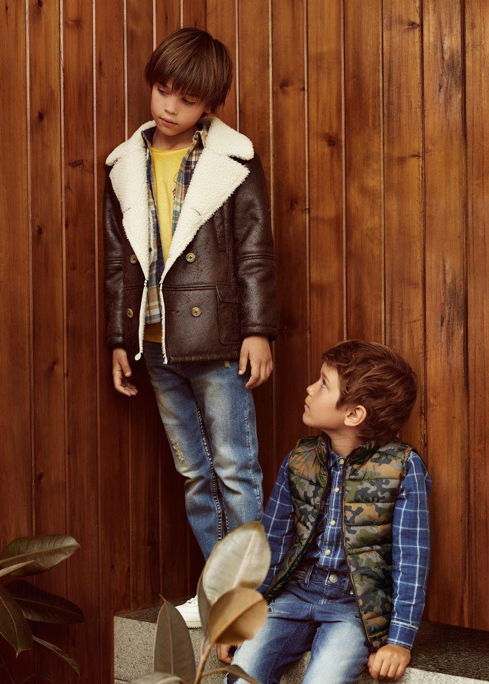 f447c7e86 Faux shearling lining jacket. Faux shearling lining jacket Sherling Coat, Kids  Fashion Boy ...