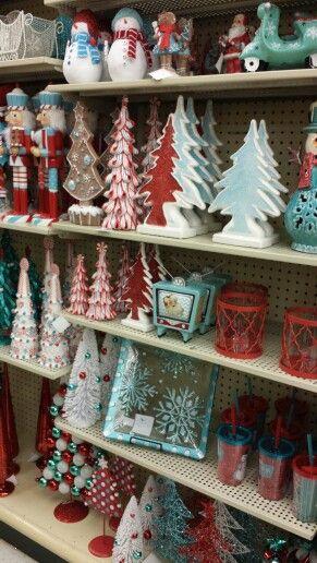 Hobby Lobby - Red Aqua & White Christmas Decor | Retro ...