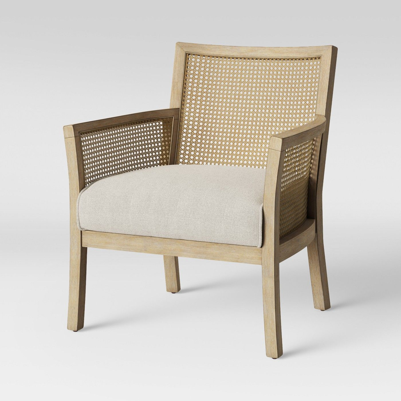 Laconia Caned Accent Chair Beige Threshold Beige Accent Chair