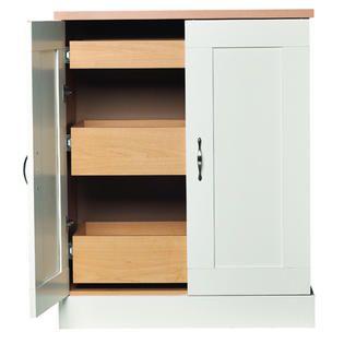 Best Akadahome White Kitchen Base Pantry Sears Locker 400 x 300