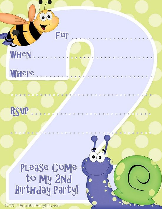 Free Birthday Party Invitations Templates FREE FREE Printable