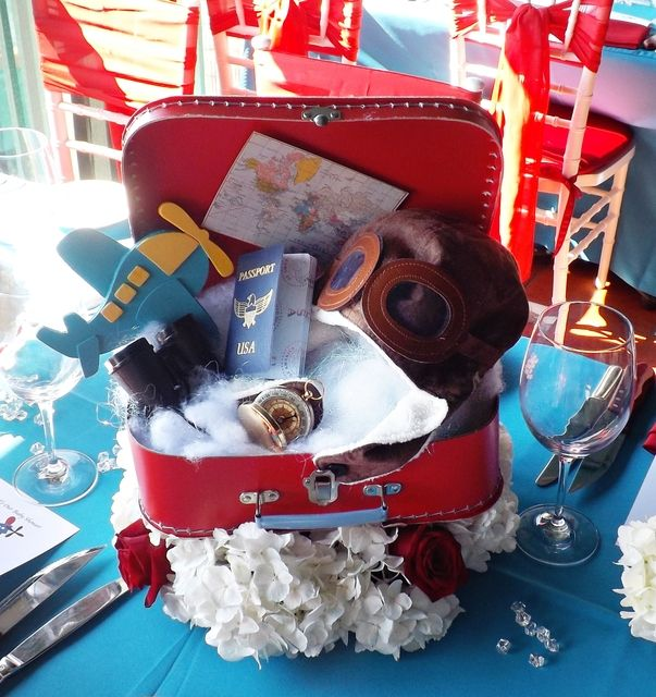 Vintage Airplane Birthday Party Airplane Baby Shower: Airplanes & Clouds Baby Shower Party Ideas