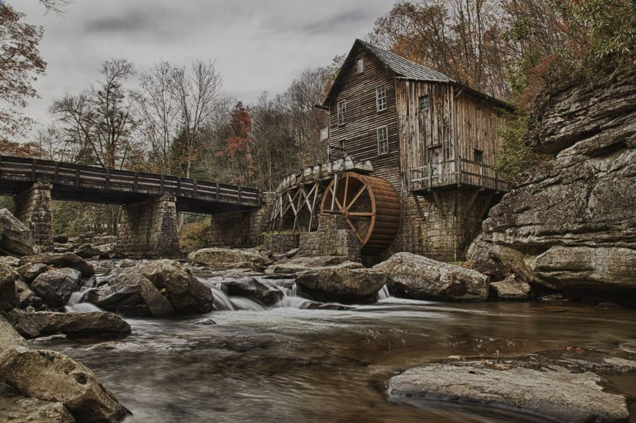 Water Whell in Babcock State Park, West Virginia, USA