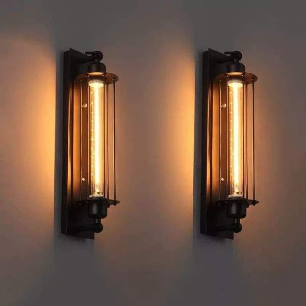 Photo of Industrial Style Vintage Bar Wall Lamp
