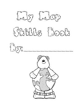 This is a map skills booklet that covers first grade map skills ...