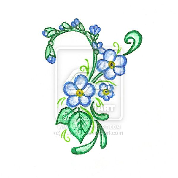 Google image result for httpfc09iantartfs38i2008347 forget me not tattoos forget me not flower tattoo organic pattern and forget m ccuart Image collections