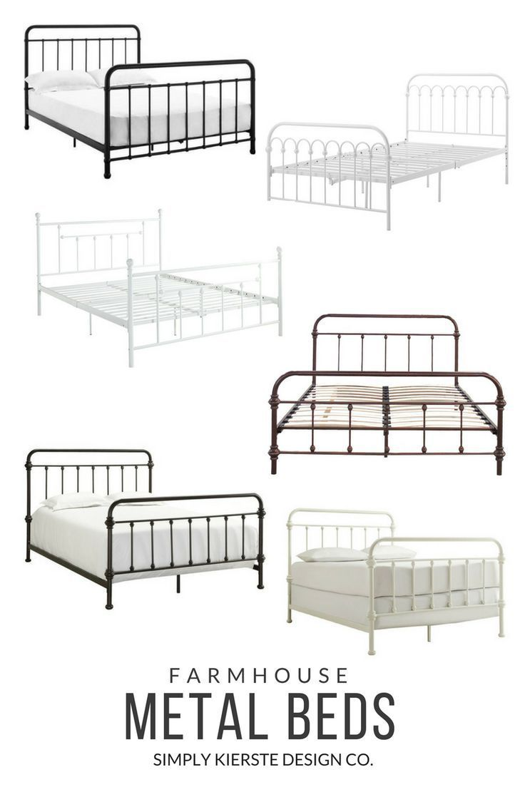 Farmhouse Style Metal Beds On Amazon With Images Farmhouse Bed Frame Guest Bedroom Design Metal Beds