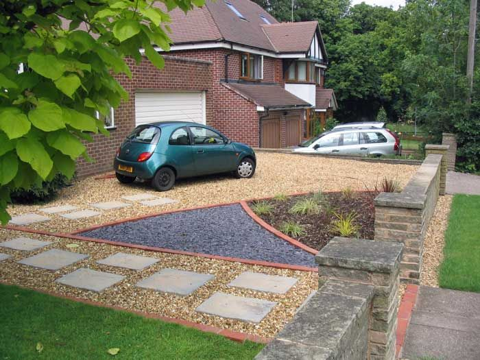 Pin By Lulapin On Front Yard Parking Front Garden Driveway Design Parking Space