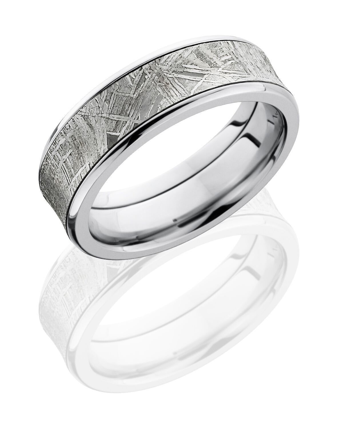 Cobalt Chrome wedding ring hand crafted 7mm Concave Band