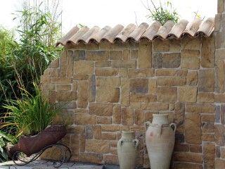 Gartenmauer mit Riemchen   garten   Pinterest   Gartenmauern ...