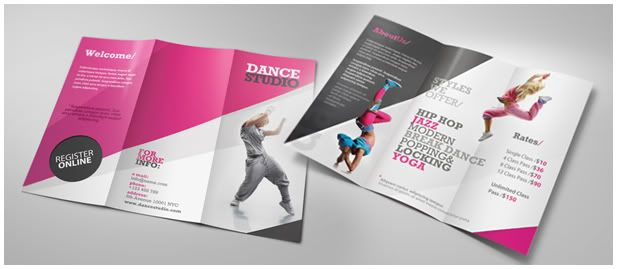 Dance Studio Brochure   Dance Studio Tri Fold Brochure And