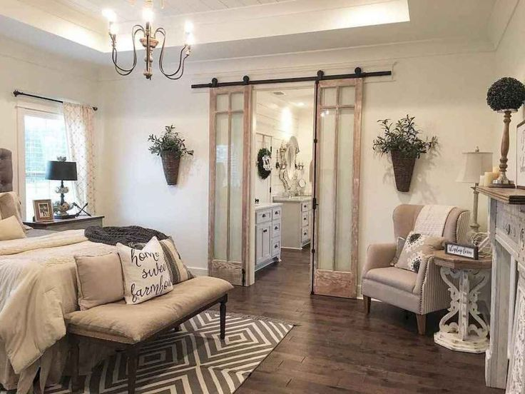 01 Romantic Farmhouse Master Bedroom Ideas