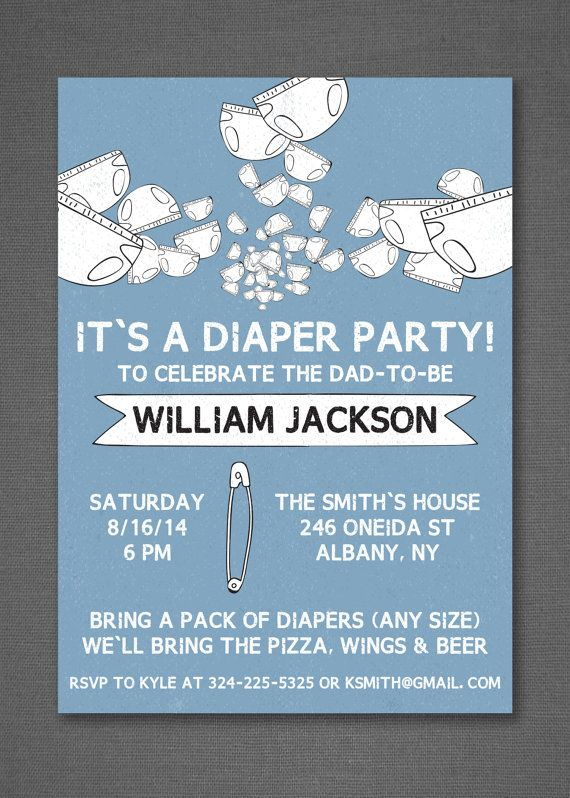 Diaper Party Invitation Diaper And Beers Beer And Diaper