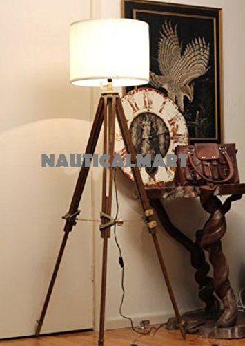 Nauticalmart Vintage Classic Tripod Floor Lamp Nauticalmart Https Www Dp B01m4iddd0 Ref Tripod Floor Lamps Nautical Floor Lamps Vintage Floor Lamp