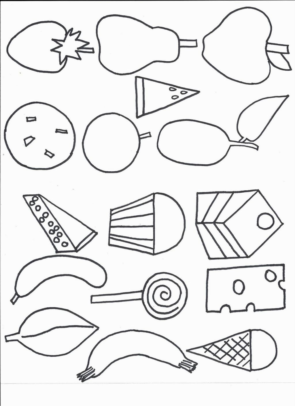 Hungry Caterpillar Coloring Page