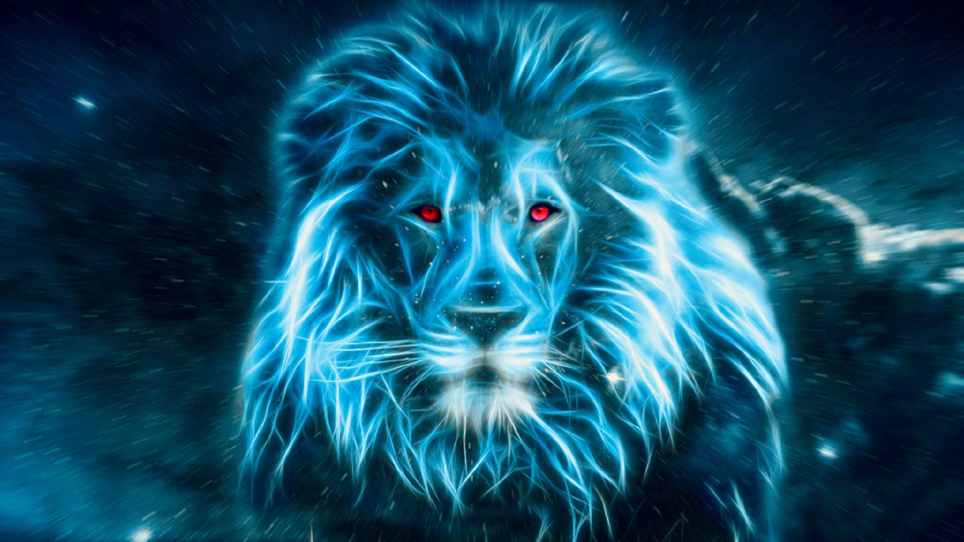 Lion in blue Wallpapers[19201080] Music IndieArtist