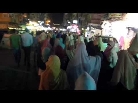 ثوار الرمل يخرجون بمسيرة حاشدة تجوب شوارع ابو سليم