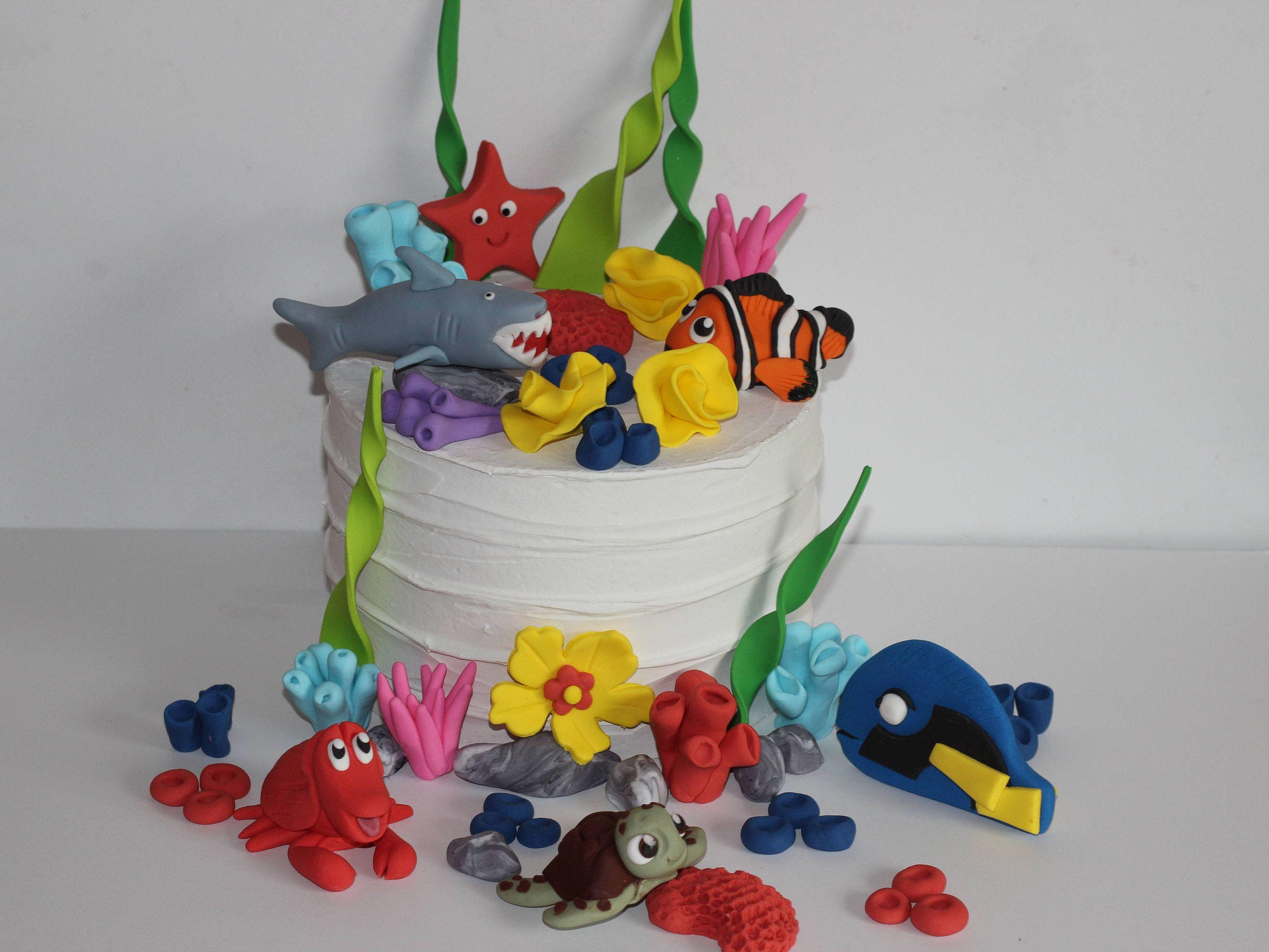 Fondant Under The Sea Decoration Cake Edible Sugar Cake Cupcake