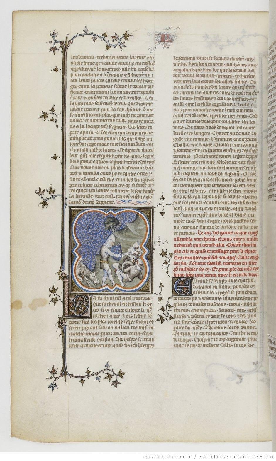 Grandes Chroniques de France. Date d'édition : 1375-1380 114v