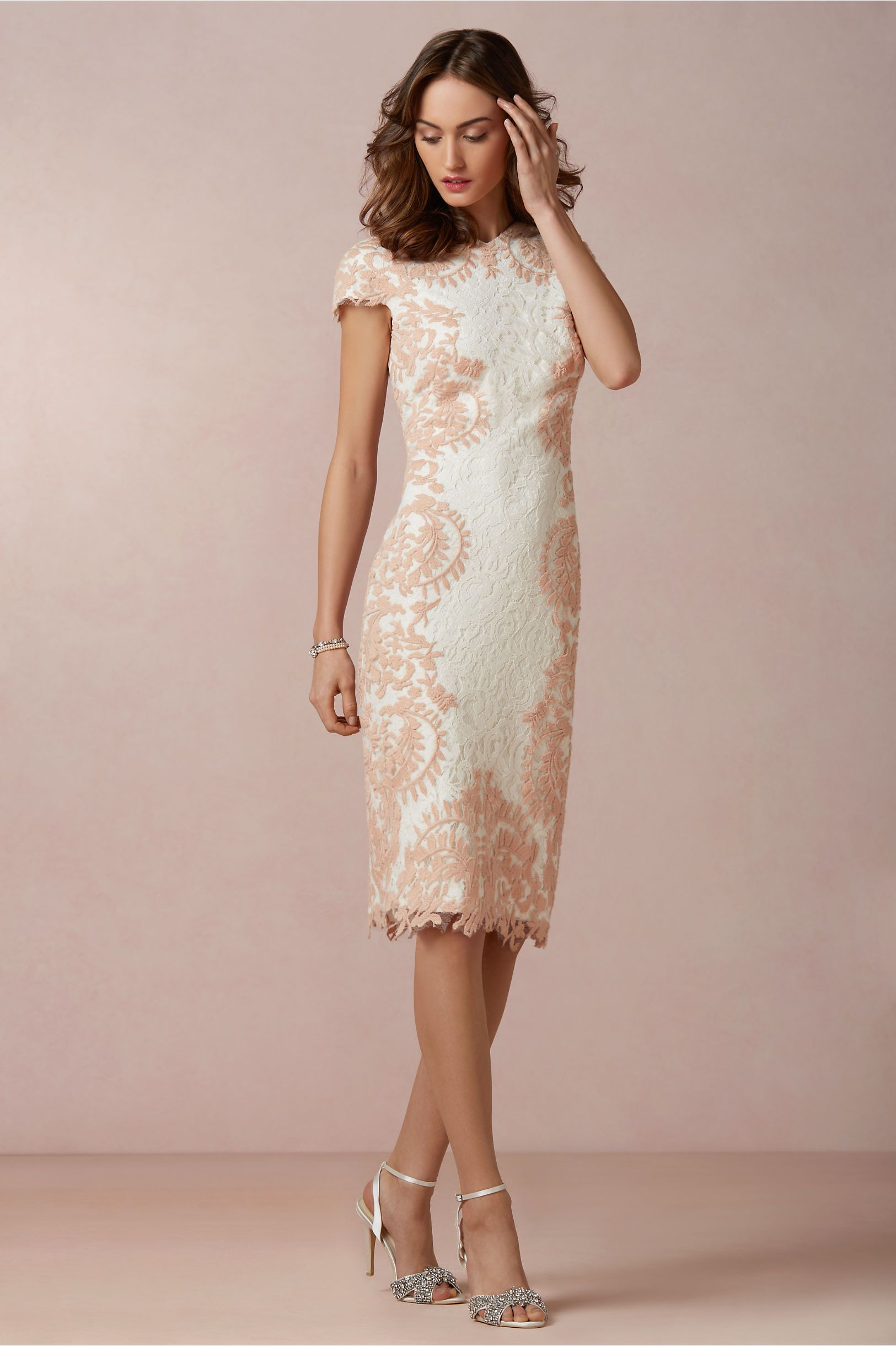 Catalina dress from bhldn ivory shift dress with blush for Shift dress for a wedding