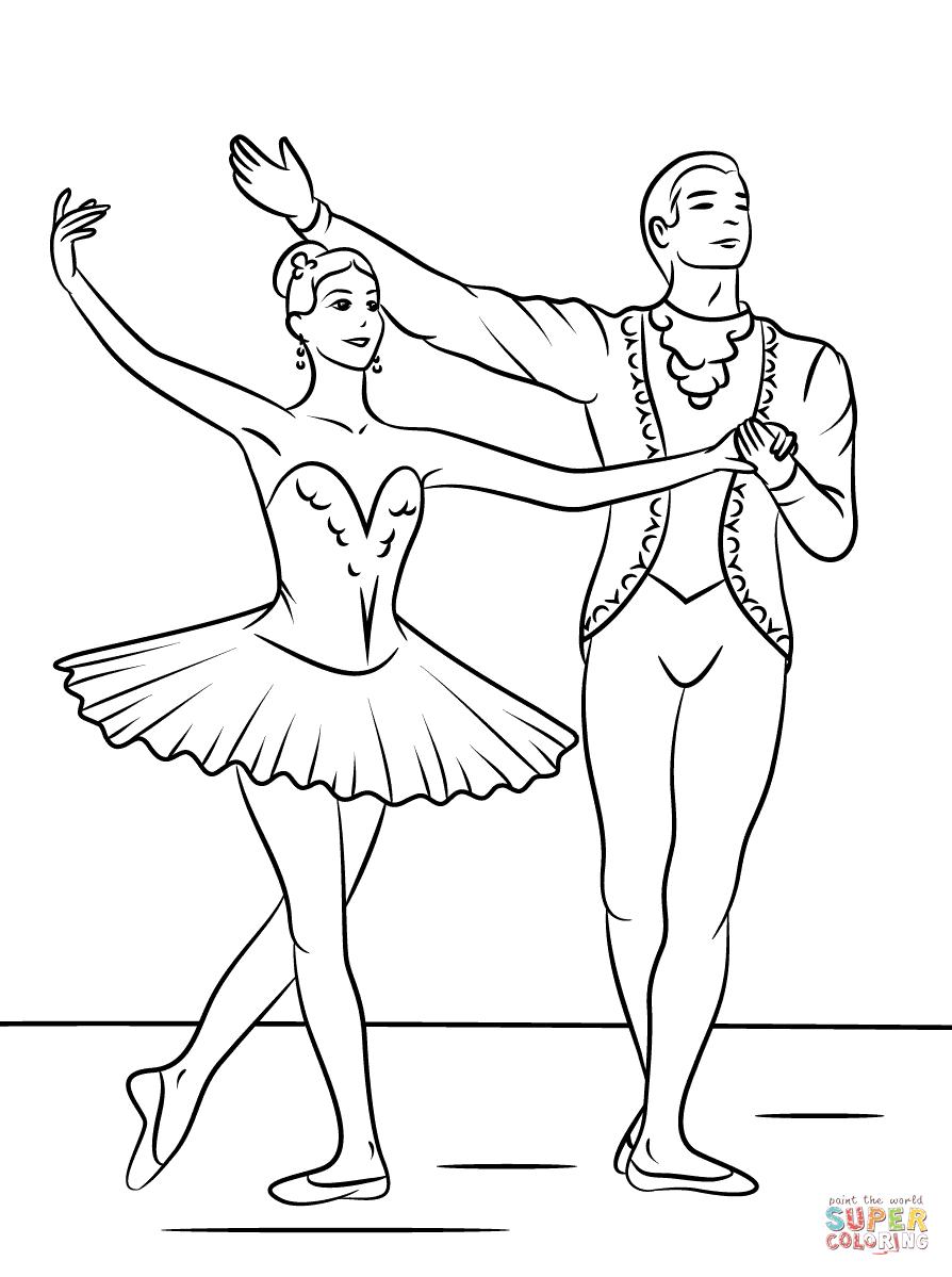Único Páginas Para Colorear De Ballet Imprimibles Elaboración ...