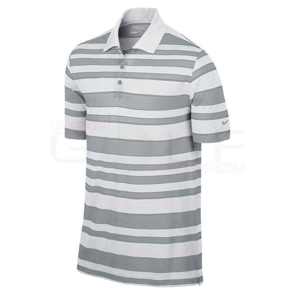 fe22576a Nike Golf Bold Stripe Polo Dri Fit Size Large 508328 100 #Nike #ShirtsTops