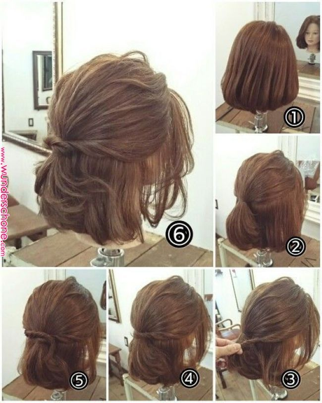 170 Easy Hairstyles Step By Step Diy Hair Styling Can Help You To Stand Apart From The Crowds Hair Styles Sho Short Hair Updo Hair Styles Short Hair Styles